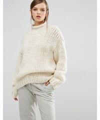 Samsøe & Samsøe Samsoe & Samsoe - Shino - Pull oversize en tricot épais - Crème