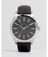 Armani Exchange - AX2323 - Armbanduhr aus Leder in Schwarz - Schwarz