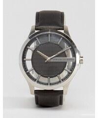 Armani Exchange - AX2186 - Armbanduhr aus Leder in Schwarz - Schwarz