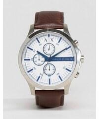 Armani Exchange - AX2190 - Chronograph mit Lederarmband in Braun - Braun