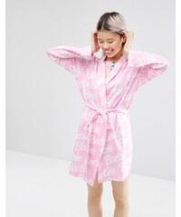 ASOS - Peignoir en jersey avec logo Barbie - Multi