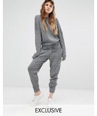 Seint - Pantalon de survêtement décontracté coordonné en maille - Gris