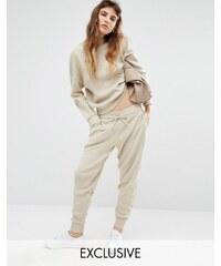 Seint - Pantalon de survêtement décontracté coordonné en maille - Crème