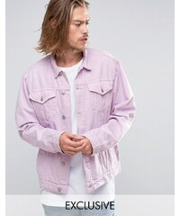 Reclaimed Vintage - Veste en jean oversize surteinte - Rose
