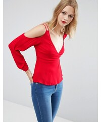ASOS - Schulterfreie Bluse - Rot