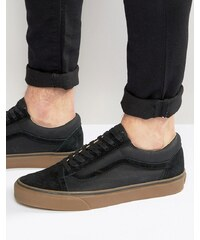 Vans - Old Skool VA2XS6JYD - Baskets à semelle en caoutchouc - Noir - Noir