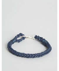 Jack Wills - Glencothe - Geflochtenes Armband - Marineblau