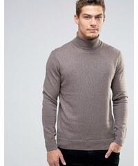Esprit - Pullover aus Kaschmirmischung mit Rollkragen - Beige