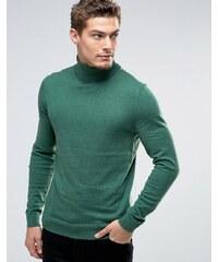 Esprit - Pullover aus Kaschmirmischung mit Rollkragen - Grün
