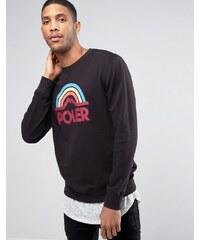 Poler - Sweat-shirt avec grand logo arc-en-ciel - Noir