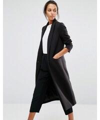 Selected - Manteau ajusté long - Noir