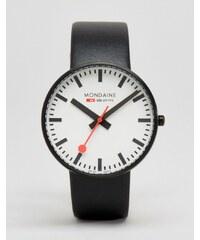 Mondaine - Montre géante 42 mm - Noir/noir - Noir