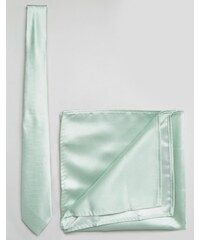 ASOS Wedding - Ensemble pochette et cravate - Vert pâle - Vert