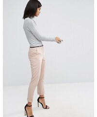 ASOS - Pantalon cigarette avec ceinture - Rose
