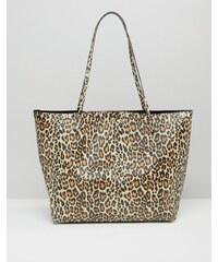 ASOS - Cabas non tissé à imprimé léopard - Multi