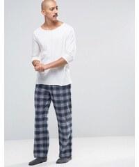 Jack Wills - Pantalon confort tissé à carreaux - Bleu marine