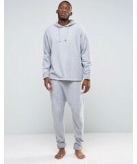 ASOS Loungewear - Pantalon de survêtement entrejambe bas style peignoir avec chevilles retroussées - Gris