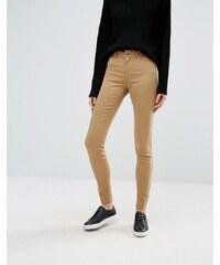 Vero Moda - Jean skinny lisse à taille mi-haute - Marron