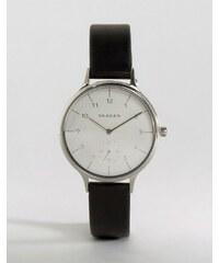 Skagen - Anita SKW2415 - Montre-bracelet en cuir - Noir - Noir