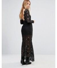 Ebonie n Ivory - Robe longue en dentelle à décolleté dos - Noir