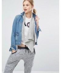 Abercrombie & Fitch - Veste en jean avec doublure intérieure en laine - Bleu