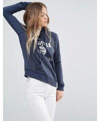 Hollister - Sweat à capuche avec logo - Bleu marine