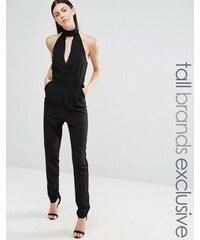 Lavish Alice Tall - Combinaison ajustée à dos nu - Noir