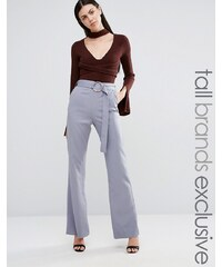Lavish Alice Tall - Pantalon avec ceinture - Gris