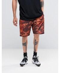 Granted - Short à imprimé camouflage - Marron