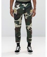 Jaded London - Souvenir - Enge Jogginghose mit Camouflage-Muster - Grün