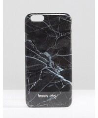 Happy Plugs - Hülle für iPhone 6/6s mit Marmorprint in Schwarz - Schwarz