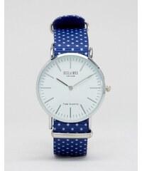 Reclaimed Vintage - Montre à pois - Bleu - Bleu