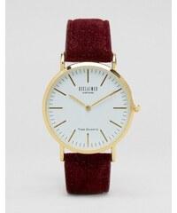 Reclaimed Vintage - Montre à bracelet en laine - Bordeaux - Rouge