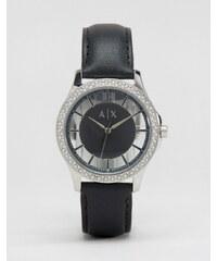 Armani Exchange - Edle Leder-Armbanduhr, AX5253 - Schwarz
