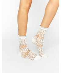 Gipsy - Jolies chaussettes transparentes - Blanc