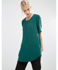 Monki - Top long tissé - Vert