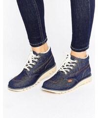 Kickers - Jeansstiefel mit hohem Schaft - Blau