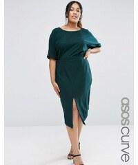 ASOS CURVE - Kleid mit Cutouts hinten - Grün