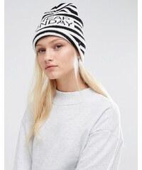 Cheap Monday - Bonnet rayé avec logo - Multi