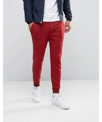 Abercrombie & Fitch - Pantalon survêtement resserré aux chevilles avec logo élan brodé - Rouge - Rouge