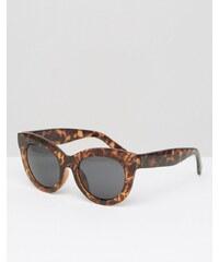 Cheap Monday - Lunettes de soleil yeux de chat oversize - Écaille de tortue - Marron