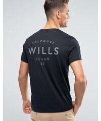 Jack Wills - Schwarzes T-Shirt mit kleinem Logo - Schwarz
