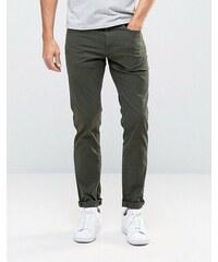 Pull&Bear - Jean slim à 5 poches - Kaki - Vert