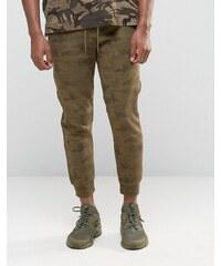 Pull&Bear - Pantalon de jogging à imprimé camouflage, coupe skinny - Kaki - Vert