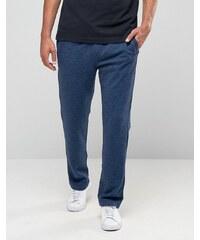 Hollister - Gerade geschnittene Jogginghose mit Logo-Print in Marineblau meliert - Marineblau
