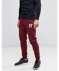 11 Degrees - Pantalon de jogging coupe skinny - Rouge