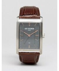 Ben Sherman - Clerkenwell Professional - WB013E - Montre carrée en cuir - Noir