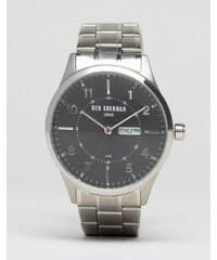 Ben Sherman - Spitalfields - WB002BM - Montre-bracelet avec affichage jour et date - Argenté