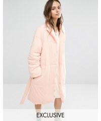 Minkpink - Robe de chambre matelassée - Rose