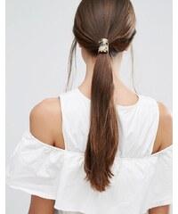 Orelia - Taupe - Élastique à cheveux avec barre - Marron